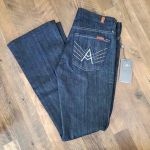 NWT 7 For All Mankind A Pocket Embroidered Jeans